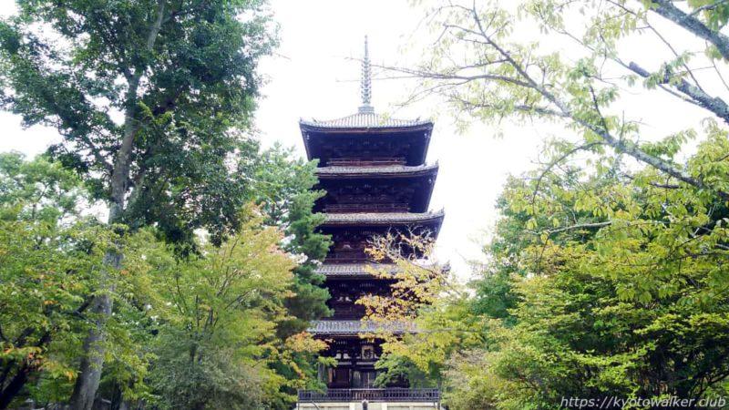 仁和寺 参道から見た五重塔 20191010