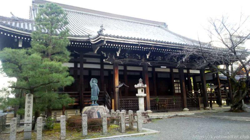 本法寺 本堂とお手植松 20200102