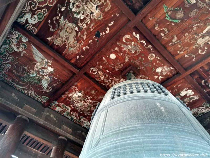 方広寺 梵鐘と鐘楼の天井 20210303