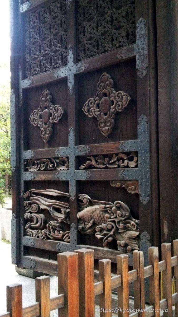 豊国神社 唐門の鯉 20161023