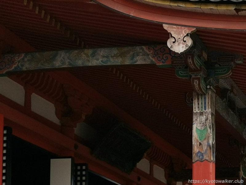 六波羅蜜寺 向拝柱 20210704