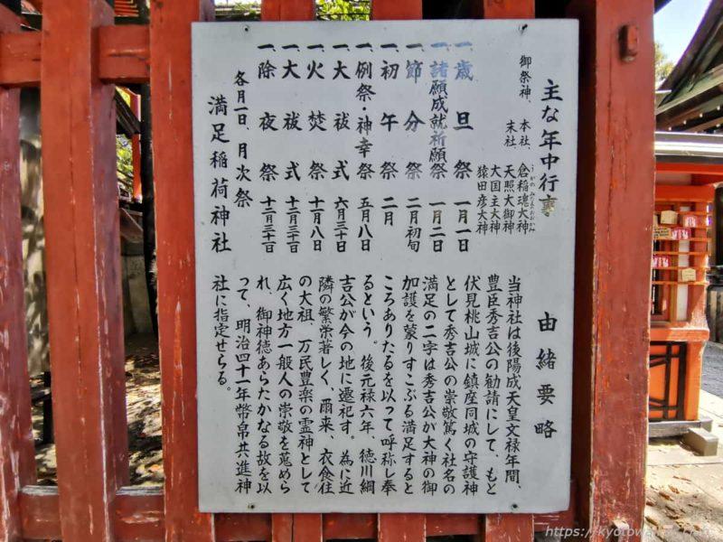 満足稲荷神社 由緒 20210411